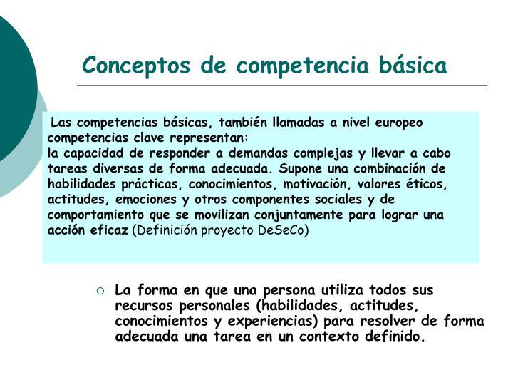 Conceptos de competencia básica