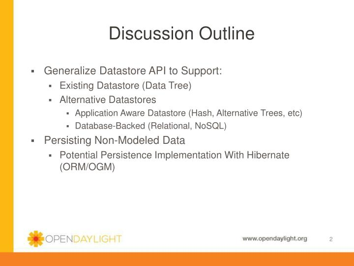 Discussion Outline