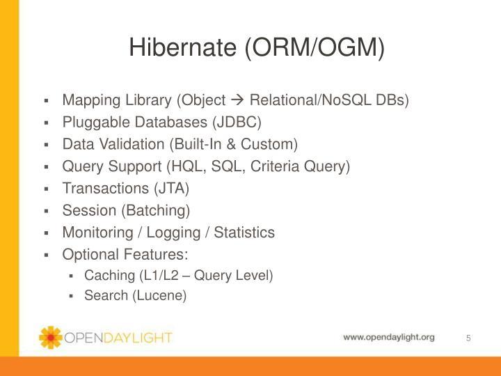 Hibernate (ORM/OGM)