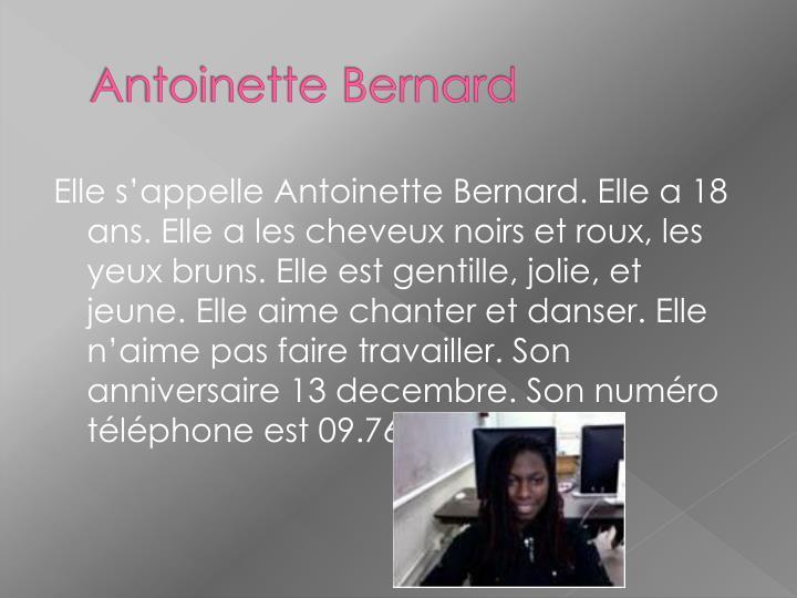 Antoinette Bernard