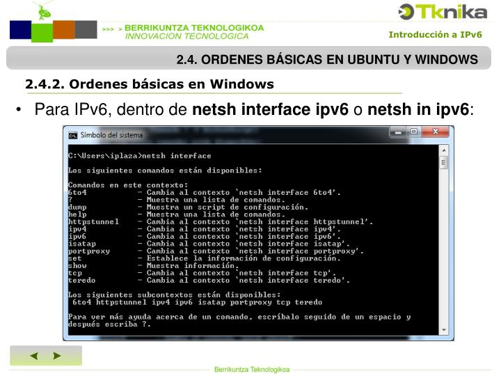 2.4. ORDENES BÁSICAS EN UBUNTU Y WINDOWS