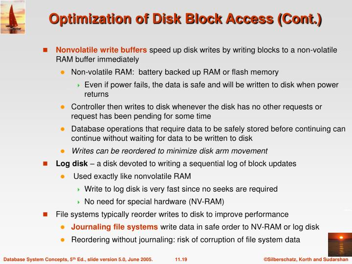 Optimization of Disk Block Access (Cont.)