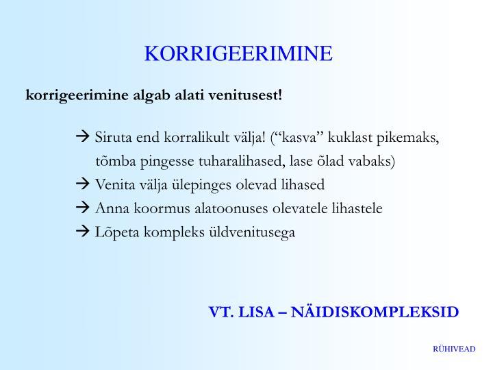 KORRIGEERIMINE