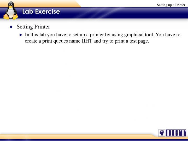 Setting Printer