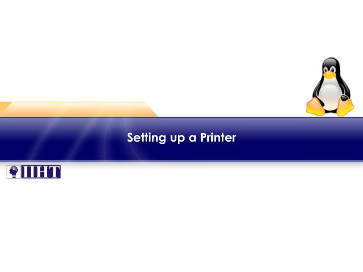 setting up a printer
