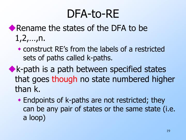 DFA-to-RE