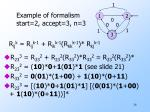 example of formalism start 2 accept 3 n 3