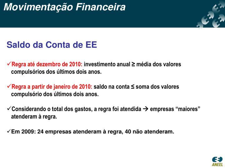 Movimentação Financeira