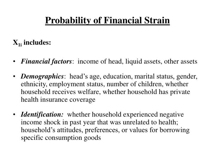 Probability of Financial Strain