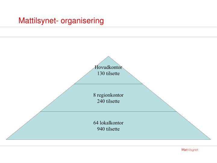 Mattilsynet- organisering