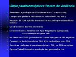 vibrio parahaemolyticus fatores de virul ncia