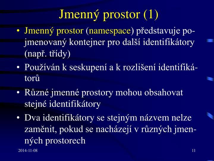 Jmenný prostor (1)