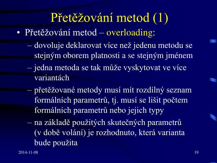 Přetěžování metod (1)