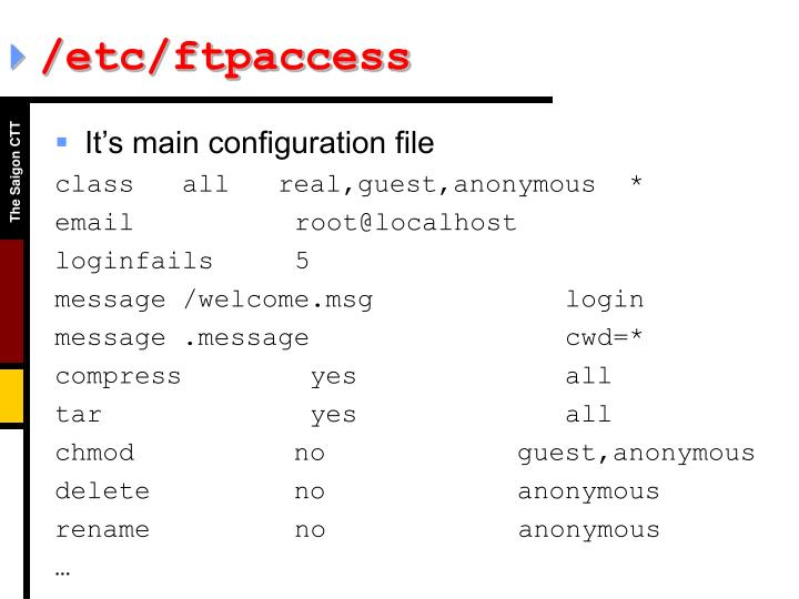 /etc/ftpaccess