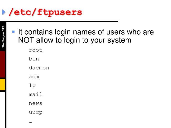 /etc/ftpusers