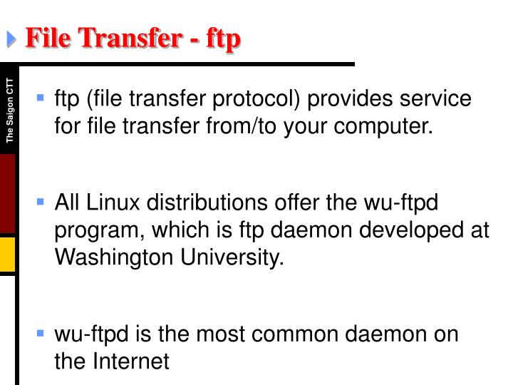 File Transfer - ftp