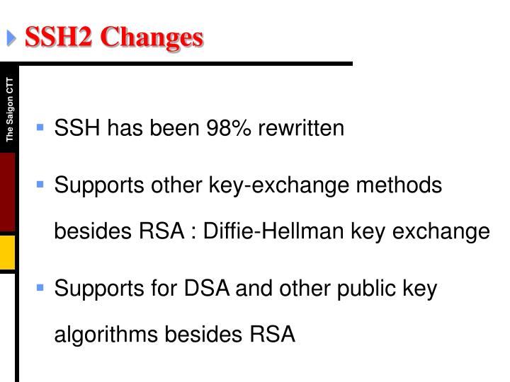 SSH2 Changes
