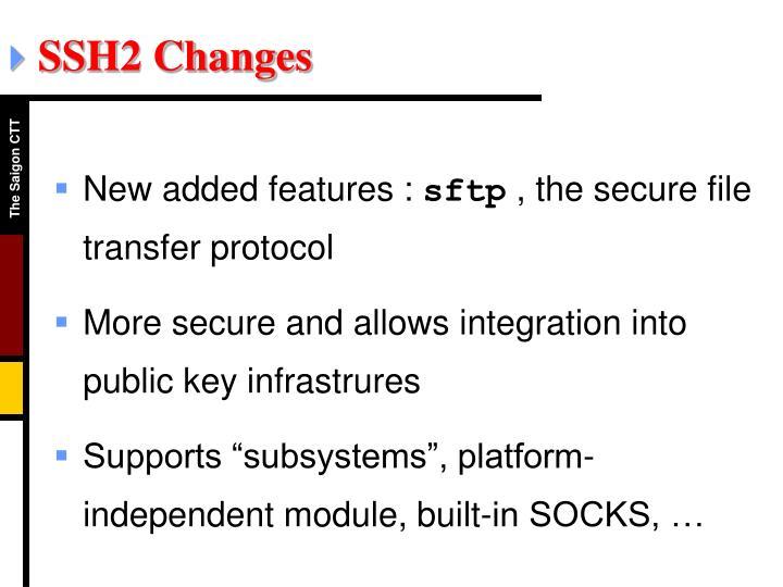 SSH2 Changes