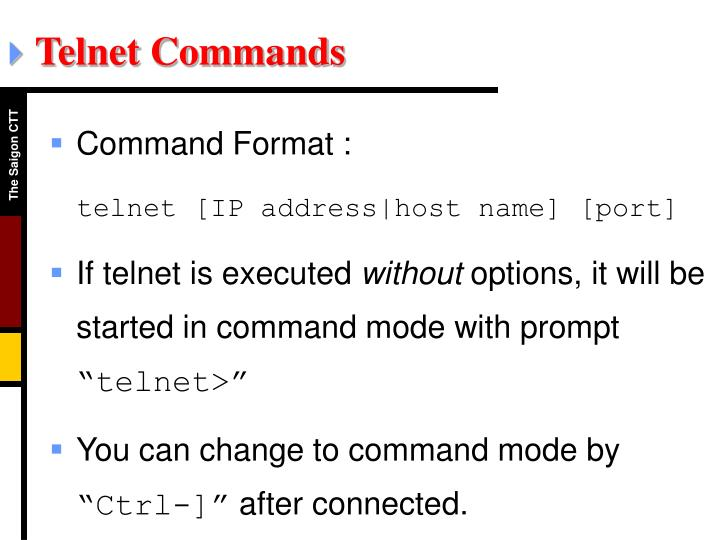 Telnet Commands