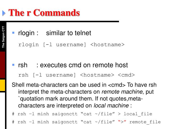 The r Commands