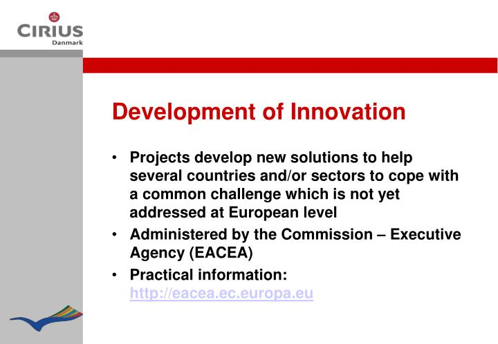 Development of Innovation