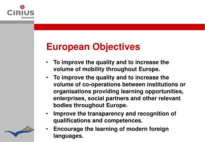European Objectives