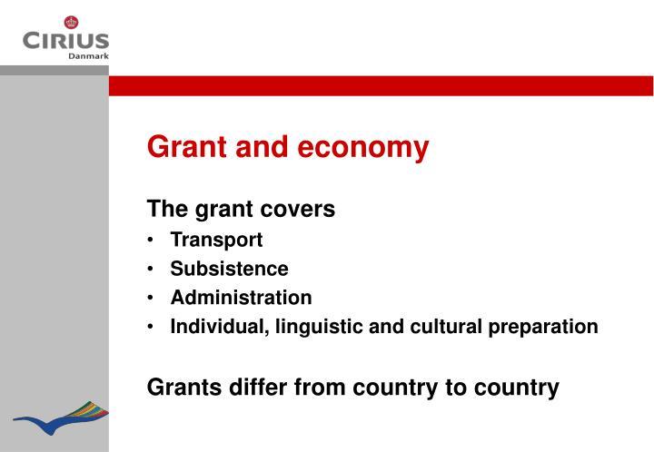 Grant and economy