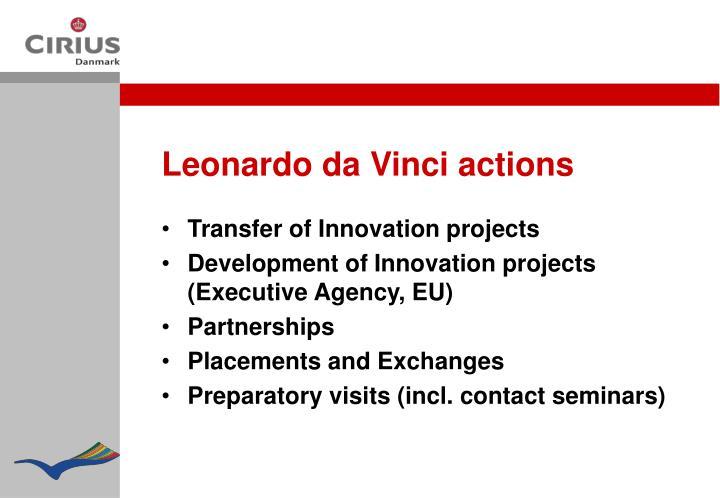 Leonardo da Vinci actions