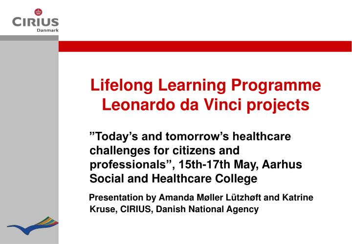 Lifelong Learning Programme   Leonardo da Vinci projects