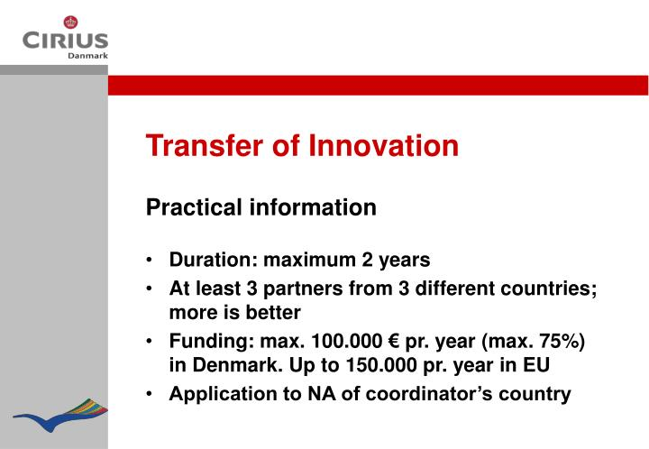 Transfer of Innovation