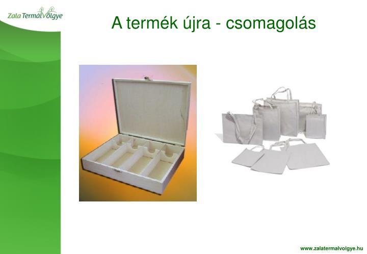 A termék újra - csomagolás