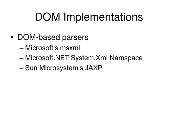 DOM Implementations