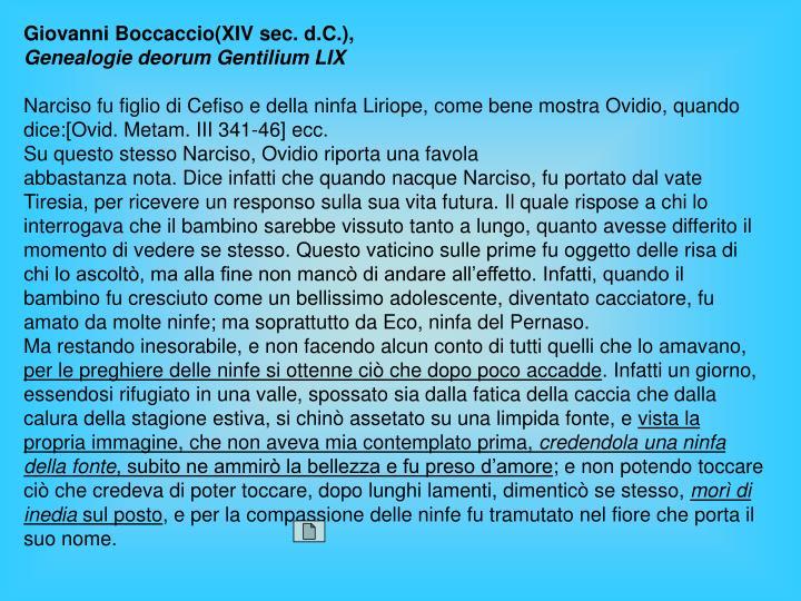 Giovanni Boccaccio(XIV sec.