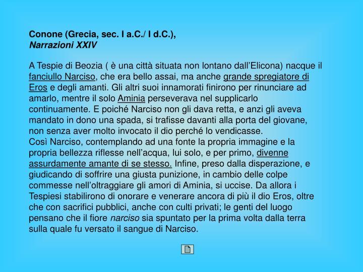 Conone (Grecia, sec. I a.C./ I d.C.),