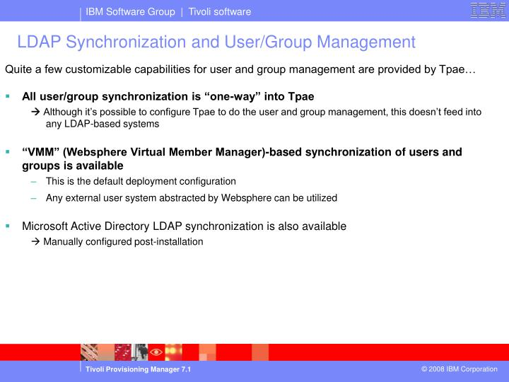 LDAP Synchronization and User/Group Management