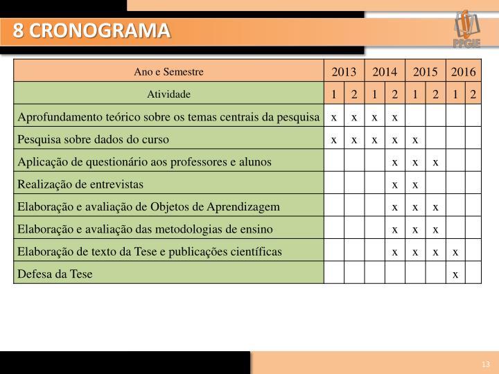 8 CRONOGRAMA