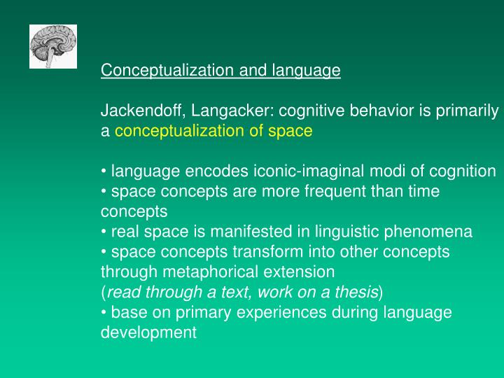 Conceptualization and language