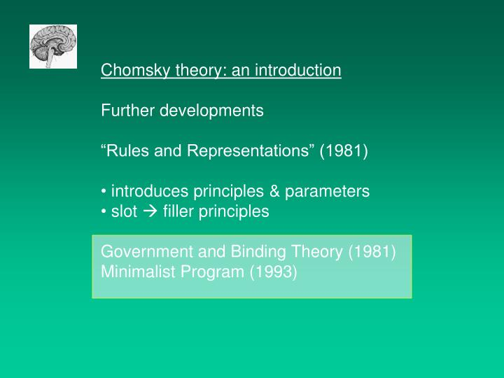Chomsky theory: an introduction