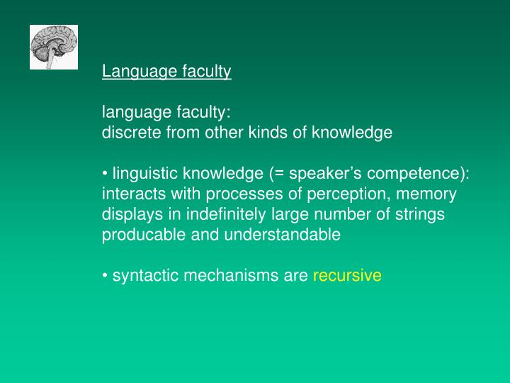 Language faculty