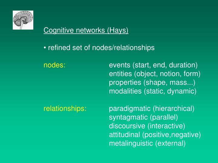 Cognitive networks (Hays)