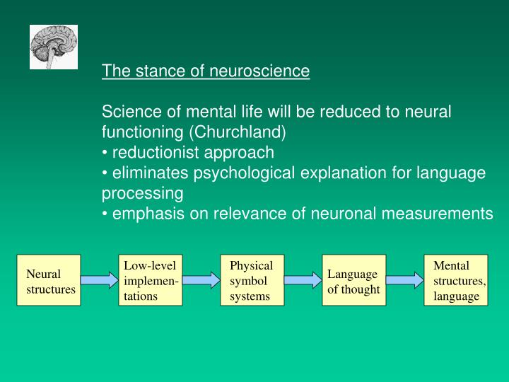 The stance of neuroscience