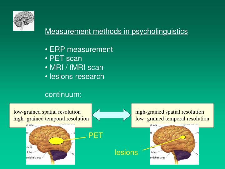 Measurement methods in psycholinguistics