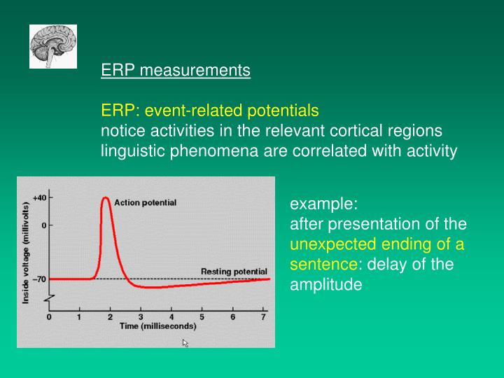 ERP measurements