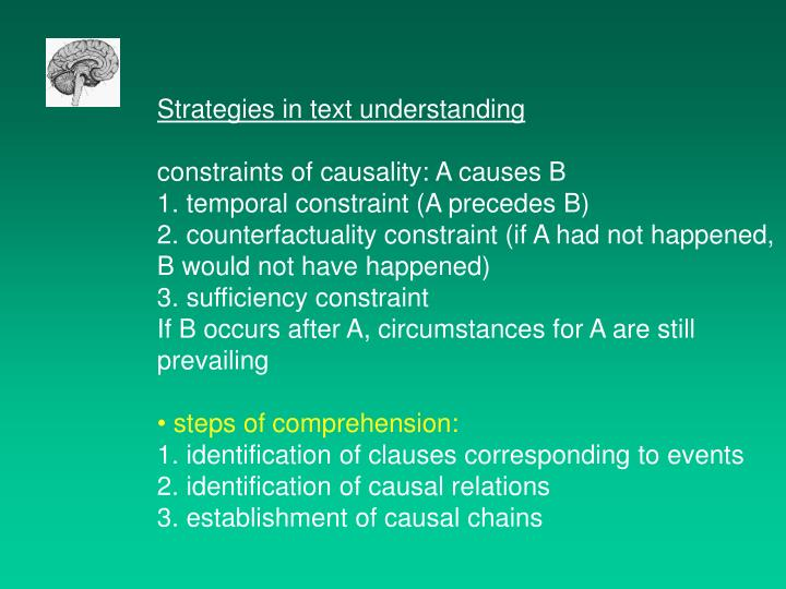Strategies in text understanding