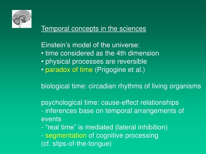 Temporal concepts in the sciences