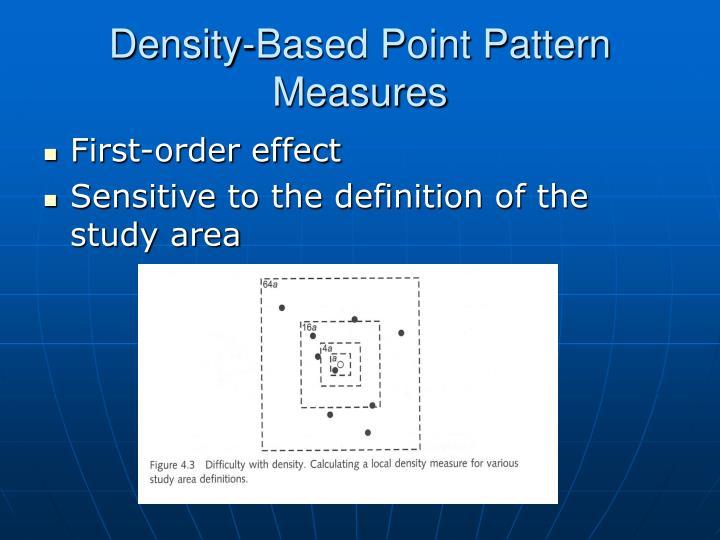 Density-Based Point Pattern Measures