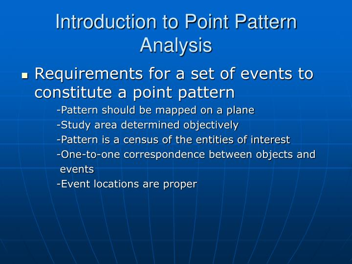Introduction to point pattern analysis1