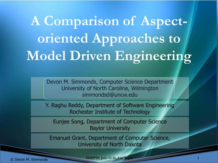 A Comparison of Aspect-oriented Approaches to Model Driven Engineering