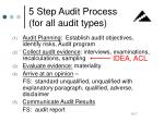 5 step audit process for all audit types
