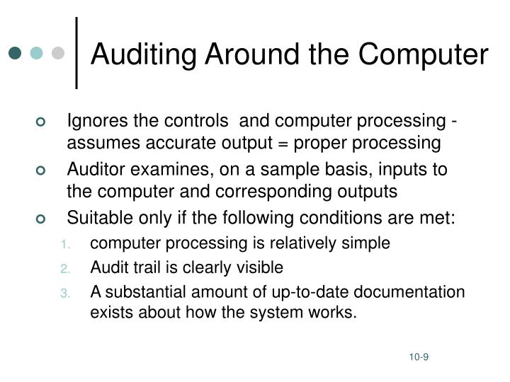 Auditing Around the Computer